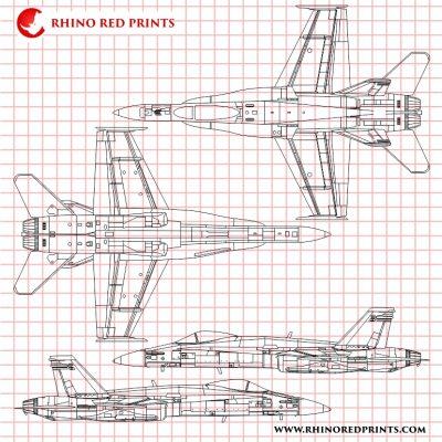 f/a-18c hornet legacy hornet rhino red prints vector files